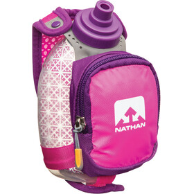 Nathan QuickShot Plus Insulated Handheld 300ml Floro Fuchsia/Imperial Purple